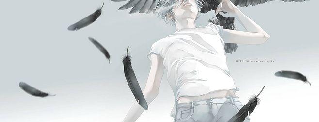 干净,手绘,唯美,男生头像,翅膀